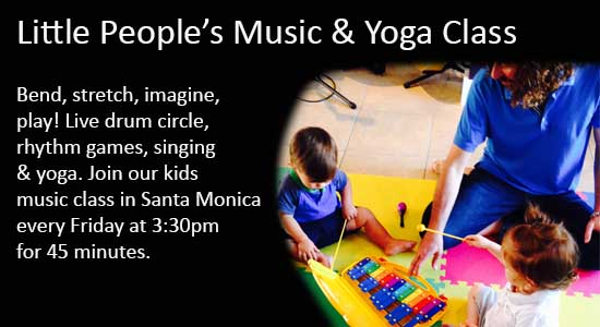 Kids, yoga music class in Santa Monica
