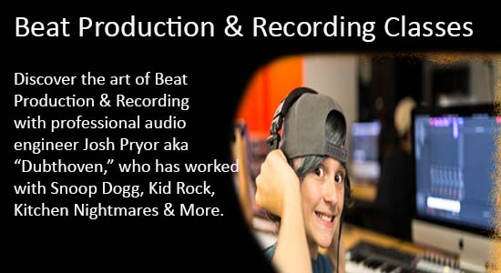Beat Production & Recording Classes with Joch Pryor aka Dubthoven